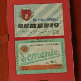 Rama cu sticla - Eticheta originala - Bere Semenic - Timisoreana !!!