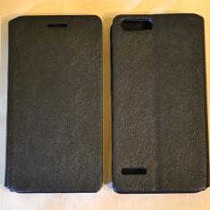 Husa HUAWEI ASCEND P7 Mini Flip Case Slim Black, Negru, Piele Ecologica, Toc, Cu clapeta
