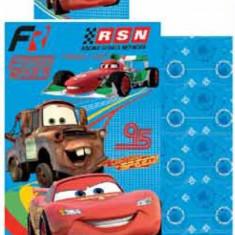 Lenjerie de pat Disney, Cars, 90X140 - Lenjerie pat copii Disney, Alte dimensiuni, Multicolor, 2 Piese