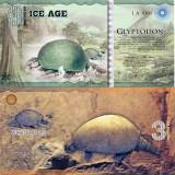 EPOCA DE GHEATA(ICE AGE)- 3 ICE DOLLARS 2014-POLYMER- UNC!!