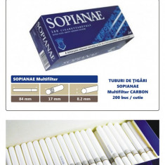 Foite tigari - 1.000 tuburi de tigari Sopianae Multifilter cu Carbon pentru injectat tutun