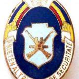 ROMANIA RSR INSIGNA Prieten al trupelor de securitate - 20 x 30 mm RARA **, Romania de la 1950