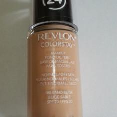Revlon Color Stay Fundation, Fond De Ten, Normal- Dry Skin, 180-Sand Beige, Lichid