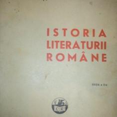 Studiu literar - ISTORIA LITERATURII ROMANE de. D. MURARASU