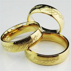 Inel inox - Inel Lord Of The Rings LOTR, Stapanul Inelelor - Material Titan si Inox