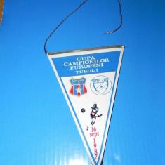 FANION FOTBAL CUPA CAMPIONILOR EUROPENI STEAUA BUCURESTI - MTK BUDAPESTA 16 SEPT 1987 (01197)
