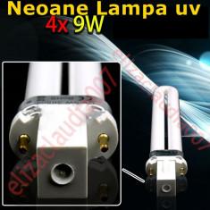 Lampa uv unghii - Set 4 neoane tub becuri pentru lampa uv de manichiura unghii false ce usuca gel UV-9W