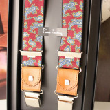 Bretele pantaloni Pierre Cardin autentice insertii piele ajustabile