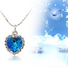 Lantisor Inima de Ocean, Albastru cu Argintiu