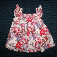 Haine Copii 4 - 6 ani, Bluze, Fete - Bluzita de vara cu flori, marca Monsoon, fete 3-4 ani