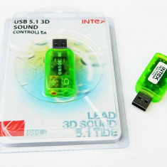 Placa de sunet PC Intex, USB - PLACA SUNET USB NOUA IN TIPLA