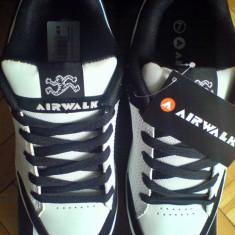 Adidasi Airwalk Brock Skate 41EU piele naturala -produs original- IN STOC - Adidasi barbati, Culoare: Alb