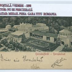 CARTE POSTALA / VEDERE BAILE HERCULANE 1898 - Carte Postala Banat pana la 1904