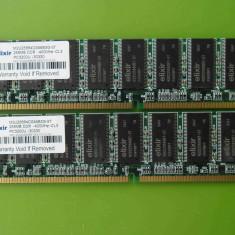 Memorie RAM PC DDR1 512MB (2x256) PC3200 400MHz Elixir, Dual channel