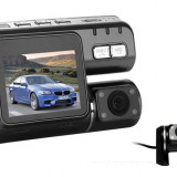 "Camera Video Auto Dubla Allwinner F20 2.0"" TFT Card 16GB Verificare Colet, 32GB, Wide, Double, HD, miniUSB"