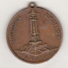 Bnk mdl - Medalia Recunotinta eroilor 1916-1919 Reg 4 Rosiori