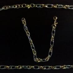 Set bijuterii aur, 18k - Lant si bratara aur 18k