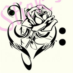 Floral Heart_Tatuaje Perete_Sticker Decor_Cod:WALL-707-Dim: 25 cm. x 21.5 cm. - Tapet