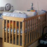 Patut lemn pentru bebelusi, 120x60cm - Vand patut lemn