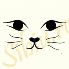 Cat_Tatuaje de Perete_Sticker Decorativ_Cod:WALL-678-Dim: 40 cm. x 18.4 cm. - Tapet