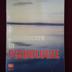 Carte Psihologie - Nicky Hayes - Introducere in psihologie - 366982