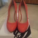 Pantofi dama Nine West, Marime: 39, Culoare: Corai, Piele naturala