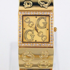 Ceas de Dama Guess, Fashion, Quartz, Placat cu aur, Placat cu aur, Rezistent la apa - CEAS DAMA GUESS CELEBRATING GOLD EDITION -SUPERB-NOU 2015-CRISTALE-POZE REALE !