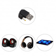 Adaptor, cablu - Cablu de incarcare USB mufa 2.5mm 5V 2A pentru tableta, casti, boxe portabile