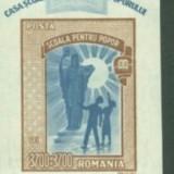 Timbre Romania, An: 1947, Nestampilat - Romania 1947 - CASA SCOALELOR, colita nestampilata AA105