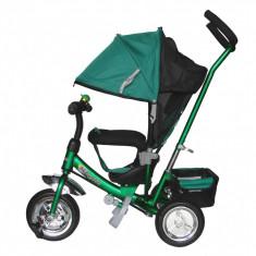 Tricicleta cu capotina Skutt AGILIS Verde - Tricicleta copii