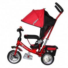 Tricicleta cu capotina Skutt AGILIS Rosie - Tricicleta copii Skutt, Rosu