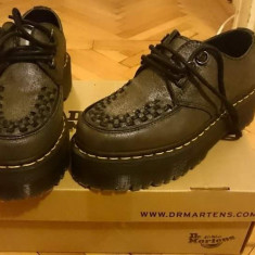 Dr. Martens, creepers - Pantof dama Dr. Martens, Marime: 37, Culoare: Gri, Piele naturala