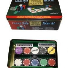 Jocuri Board games - Casino Style Texas Holdem Poker Set