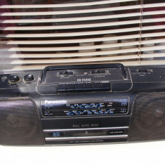 Stereo-Radio-Casetofon Panasonic portabil, 0-40 W