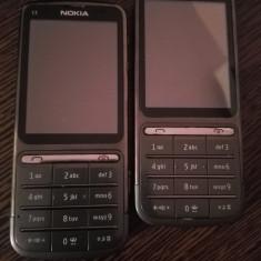 Telefon mobil Nokia C3-01, Negru, Neblocat - Nokia C3-01 gri / second hand / necodate / folie ecran POZE REALE
