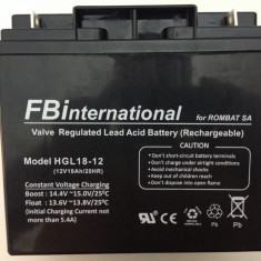 Acumulator etans 12V-18Ah cu gel si plumb VRLA pentru UPS si alarma etc APC