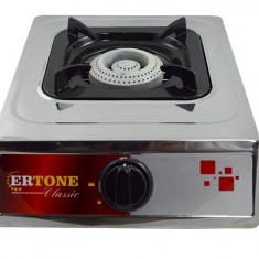 Aragaz pe gaz Ertone ERT-MN 201, inox, 1 arzator, GPL