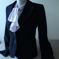 Sacou dama, Bumbac - Sacou din bumbac, negru, cambrat, BSB