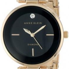 Anne Klein Women's AK 1414BKGB Diamond-Accented | 100% original, import SUA, 10 zile lucratoare af22508 - Ceas dama