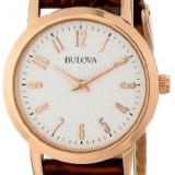 Bulova Women's 97L121 Leather Strap Watch | 100% original, import SUA, 10 zile lucratoare af22508