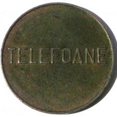 G5. ROMANIA FISA JETON CONTROL (TELEFOANE scris mare) DIMENSIUNE 27 mm ** - Jetoane numismatica, An: 1975