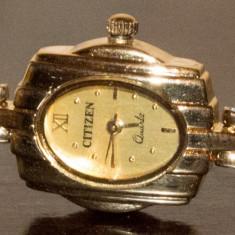 Ceas de Dama Citizen, Diametru carcasa: 20, Placat cu aur, Placat cu aur, Quartz, 30 m / 100 ft / 3 ATM - Ceas de dama femei CITIZEN ORIGINAL placat cu aur de 18K