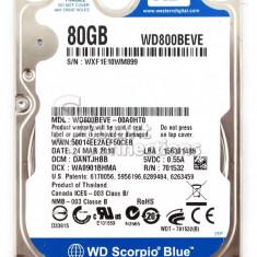 Hard Laptop IDE 80Gb Western Digital Scorpio 5400 RPM 8MB - HDD laptop Western Digital, 41-80 GB