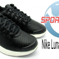Adidasi originali Nike Lunarglide+ 4 Nsw din piele naturala - Adidasi barbati Nike, Marime: 41, 42, 42.5, 43, 44, 44.5, 45, Culoare: Negru