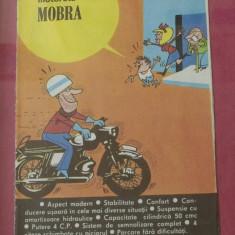 Reclama Tiparita - Reclama din perioada comunista in rama cu sticla - Motoreta Mobra !!!!