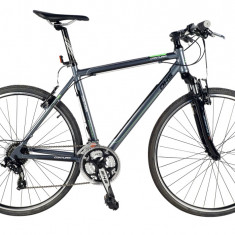 Bicicleta BMX - Bicicleta CROSS CONTURA 2865 - model 2015-Gri-Rosu-Cadru-530-mm
