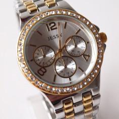 Ceas de Dama Geneva - JESSY ceasuri AURIU +ARGINTIU dama + CUTIE CADOU ceas gen guess CE125