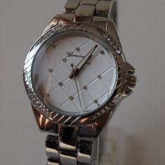 GENEVA ceasuri ARGINTIU dama + CUTIE CADOU ceas gen guess CE136 - Ceas dama