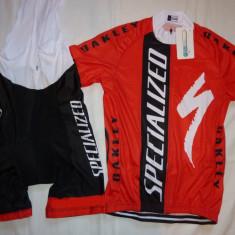 Echipament ciclism complet specialized set pantaloni cu bretele tricou jersey
