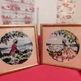 Tapiterie Goblen - 2 goblenuri pereche, superbe, vintage